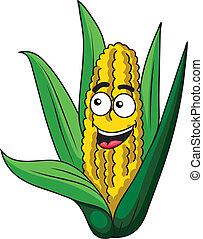sano, fresco, mazorca de maíz