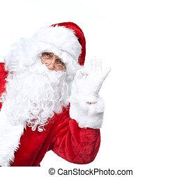 Santa Claus aislado en blanco.