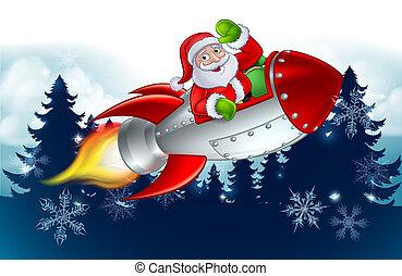 Santa Claus en los dibujos de Navidad