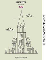Santa iglesia trinidad en Leicester, Reino Unido. icono de marca