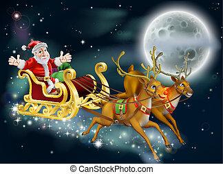 Santa y trineo