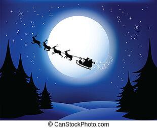 santa`s, sleigh