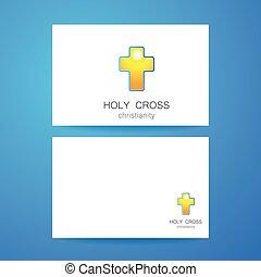 Santo logo cruzado