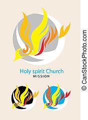 Santo logo de espíritu