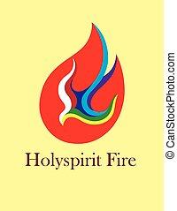 Santo logotipo de fuego