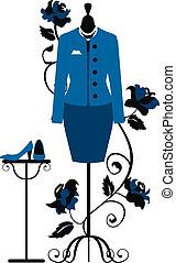 sastres, vestido, maniquí, empresa / negocio