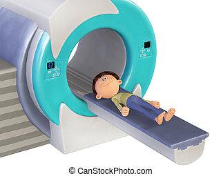 scanm, poco, doctor, niño, mri, 3d