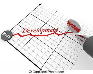 schedule., pluma, éxito, estrategia