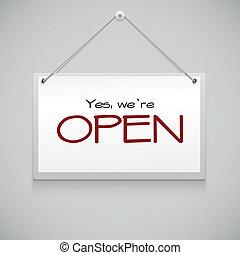 Señal abierta