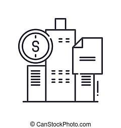 señal, aislado, ilustración, blanco, fondo., golpe, icono, contorno, diseño, editable, línea, lineal, tela, delgado, concepto, bonos, gobierno, vector, símbolo
