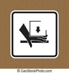 señal, blanco, aislar, aglomeración, mano, sobre, ilustración, fuerza, símbolo, plano de fondo