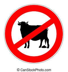 señal, bullshit, prohibición, no