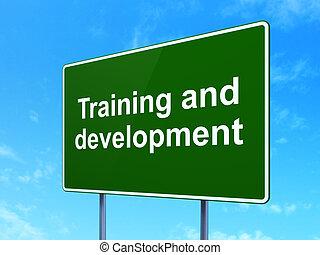 señal, concept:, desarrollo, entrenamiento, educación