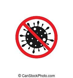 señal, coronavirus, parada