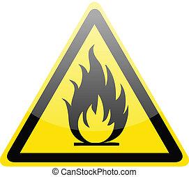 Señal de alerta de fuego