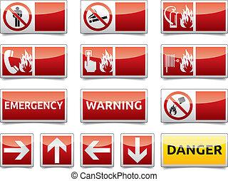 Señal de alerta de peligro