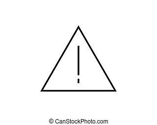 Señal de alerta vector de ilustración aislado en el fondo blanco