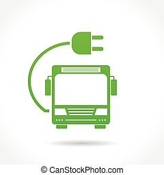 Señal de autobús eléctrico