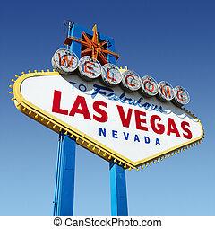 Señal de bienvenida de Las Vegas.