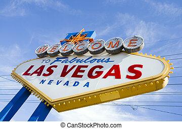 Señal de bienvenida de Las Vegas