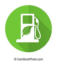 Señal de biocombustible verde icono icono