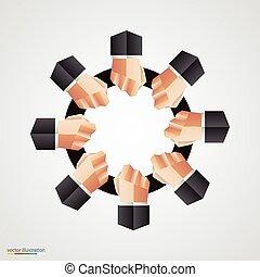 Señal de círculo de la comunidad poligonal