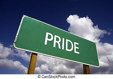 Señal de camino del orgullo