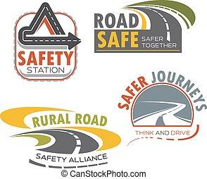Señal de carretera para el diseño de transporte