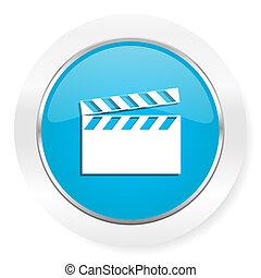 Señal de cine de iconos de video