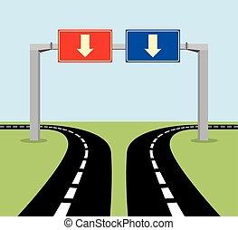 Señal de concepto de decisión