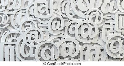 Señal de correo abstracto. Envía un correo electrónico a Internet.