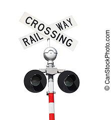 Señal de cruce de trenes