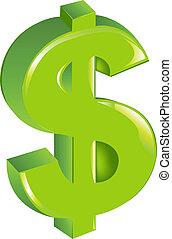 Señal de dólar verde