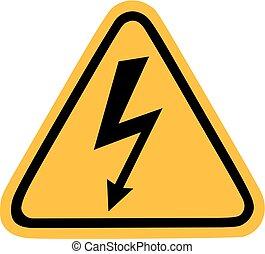 Señal de electricidad con audacia