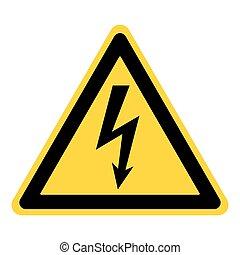 Señal de electricidad peligrosa