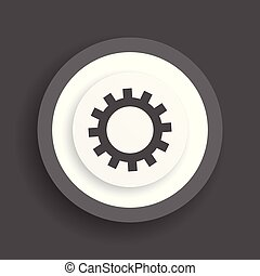 Señal de engranaje, icono vector cogwheel