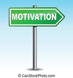 Señal de flecha de motivación