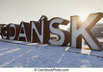 Señal de Gdansk al amanecer