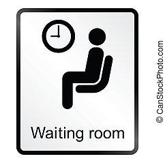 Señal de información de la sala de espera