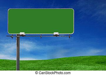 Señal de la autopista de la publicidad al aire libre