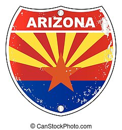 Señal de la interestatal de Arizona