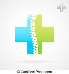 Señal de logo del centro de la clínica espinal