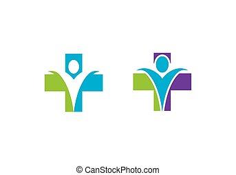 Señal de logotipo de salud