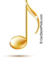 Señal de música de oro.
