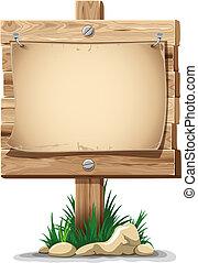 señal, de madera