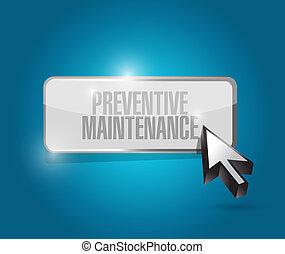 Señal de mantenimiento preventiva