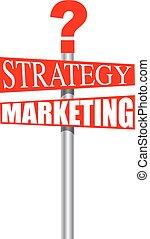 Señal de marketing de estrategia