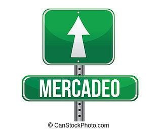 Señal de mercado español