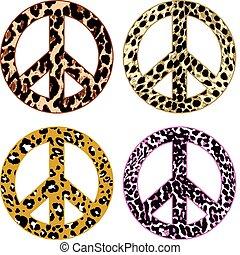 Señal de paz de piel de animal