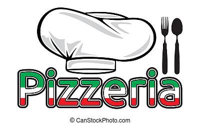 Señal de pizzería